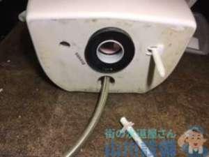 トイレの水漏れで便器と床の間からの水漏れでよくあるパターンの巻、大阪市東淀川区豊新編