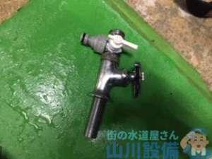 堺市南区豊田にて厨房給水管の水漏れはじゃじゃ漏れ
