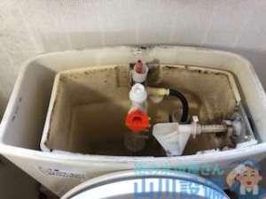 高石市東羽衣のトイレタンク修理を例にダイヤフラムと排水弁の交換を解説します。