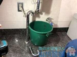 大阪市住之江区北加賀屋の手洗い排水つまりは排水トラップ解体が必要(笑)