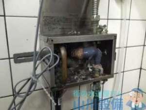 堺市北区百舌鳥西之町の依頼は給湯銅管破損修理