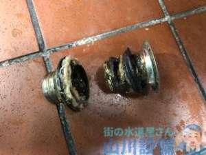 手洗いと排水パイプの接続部品からの水漏れを直す方法  大阪市東淀川区菅原
