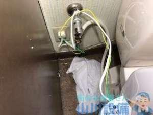 TOTO SH370BA トイレ便器下から水漏れの原因は?修理作業解説付き 大阪市北区小松原町