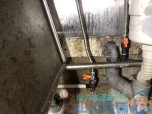 水道パイプにヒビが入り水漏れ 大阪市西成区岸里