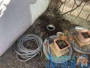 高圧洗浄機を使った排水管の洗管作業 最後に動画あります。