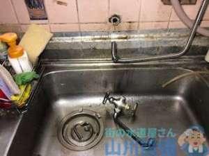 台所 蛇口 2ハンドル水のカランが空回りして水が止まらない?