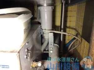 厨房内シンクにミルクポーションが詰まり排水不能で使用不可?