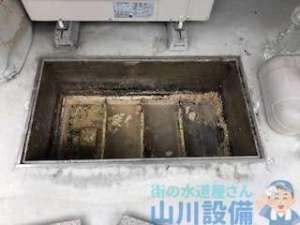 排水マスが溢れてる トイレの流れが悪い部屋がある