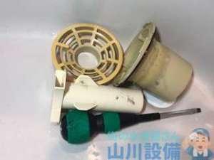 大阪府大阪市天王寺区上汐の洗濯機排水トラップは分解清掃で排水の流れが良くなります。山川設備に相談下さい。