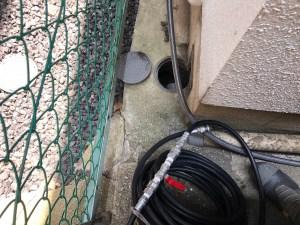 堺市堺区砂道町で3分の洗管ホースを使った洗管作業は山川設備にお任せ下さい。