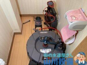大阪市生野区勝山北でフレックスシャフトでの通管作業は山川設備にお任せ下さい。