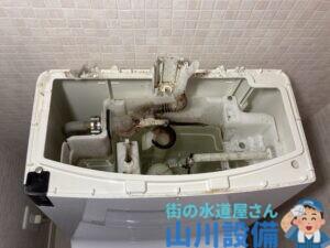 茨木市玉瀬町でトイレタンク内の修理は山川設備にお任せ下さい。