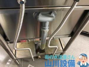 排水蛇腹ホースの水漏れ修理は山川設備にご連絡下さい。