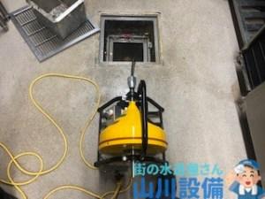 大阪府大阪市西区境川でドレンクリーナーで通管作業は山川設備にお任せ下さい。