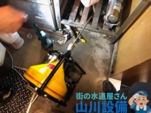 大阪府大阪市西区立売堀でドレンクリーナーを使って通管作業するなら山川設備に連絡下さい。