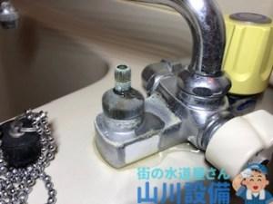 大阪府大阪市淀川区宮原の水栓のハンドルから水が漏れてきたら山川設備にお任せ下さい。