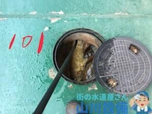 大阪府八尾市若林町排水桝から高圧洗浄機を使って洗管作業するなら山川設備に連絡下さい。