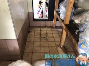 大阪府門真市一番町のゴミ庫の排水つまりは山川設備にお任せ下さい。