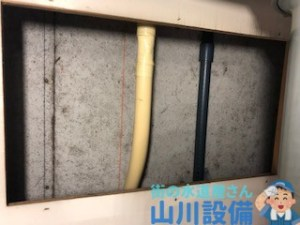 大阪府大阪市都島区善源寺町のツーハンドルの混合水栓交換は山川設備にお任せ下さい。