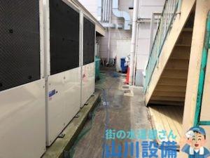 奈良市柏木町で排水桝からの洗管作業は山川設備にお任せ下さい。