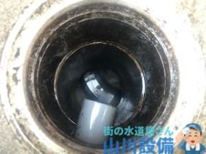 奈良市柏木町で高圧洗浄機を使った配管洗浄清掃は山川設備にお任せ下さい。