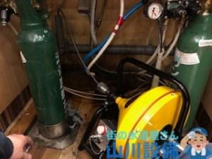 吹田市豊津町でドレンクリーナーを使って通管作業するなら山川設備にお任せ下さい。