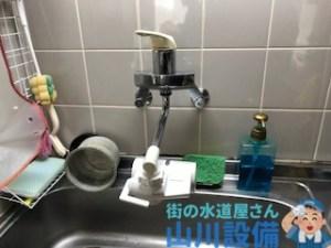 大阪市城東区鴫野西のキッチン蛇口水漏れは山川設備にお任せ下さい。