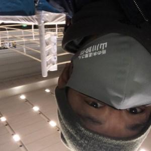 非売品の山川設備マスクです。
