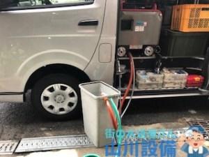 東大阪市長堂で低騒音ハイパワーの高圧洗浄機での洗管作業は山川設備にお任せ下さい。