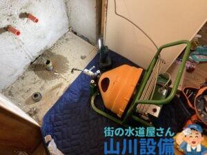 大阪市都島区高倉町で電動フレキシロッダーCREでの通管作業は山川設備にお任せ下さい。