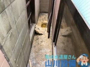 東大阪市長堂で犬走りが汚物まみれになったら山川設備にお任せ下さい。