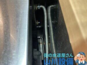 奈良市柏木町でフレキ管の水漏れは山川設備にお任せ下さい。