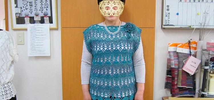 かぎ針編みのベスト