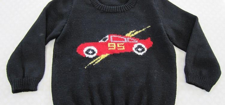 アーガイル編みのプルオーバー