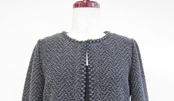 スレッド編みジャケット