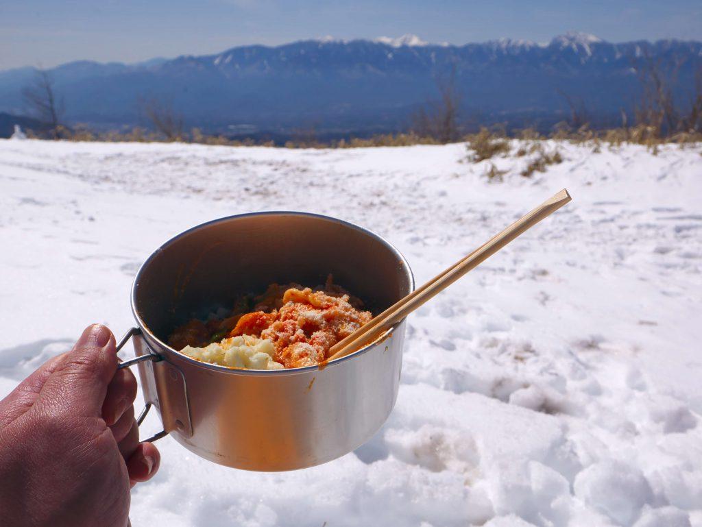 冬山のいい景色でナポリターン
