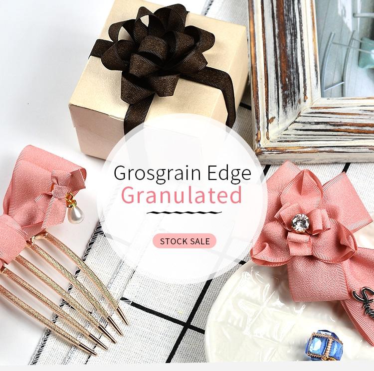 Grosgrain Edge Granulated Ribbon