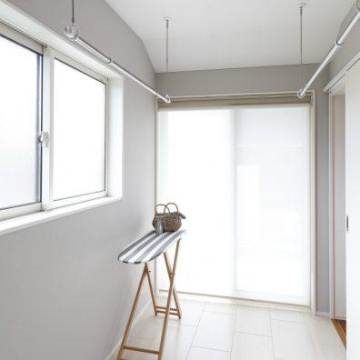ユーティリティースペースは、ドライルーム・家事室として活用