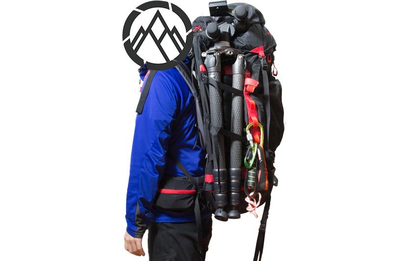 GITZO GT5543LSを登山用ザックに装着