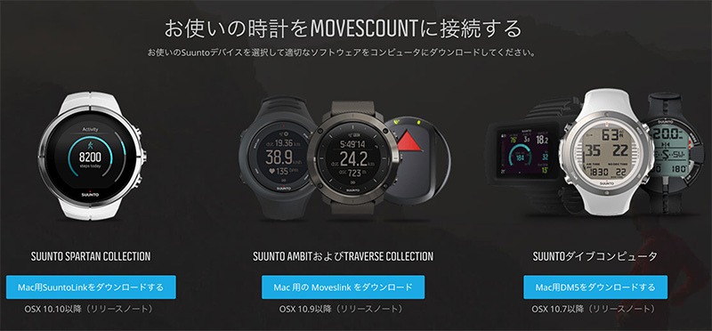 SUUNTO_MOVESZCOUNTに接続