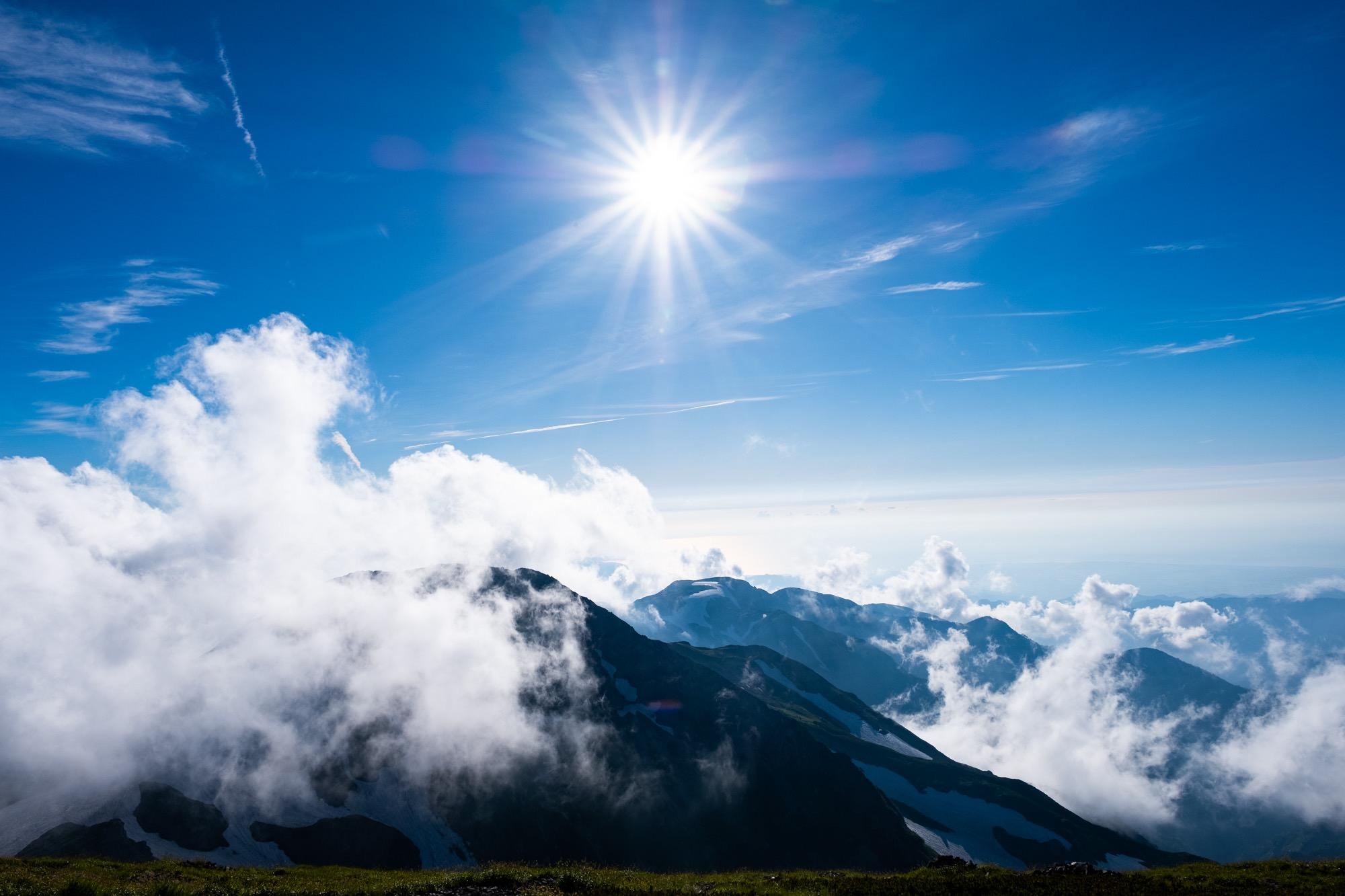 白馬岳の夏の空