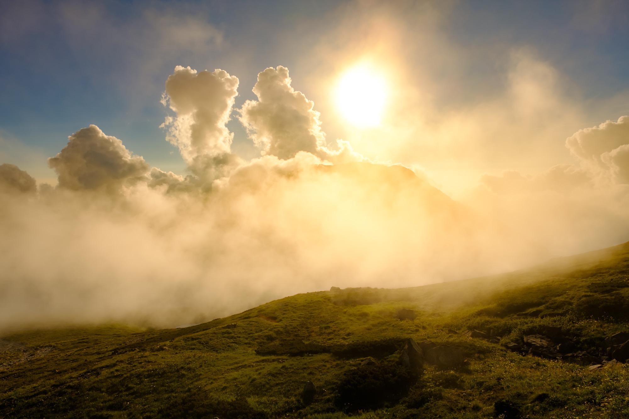 白馬岳稜線の色味