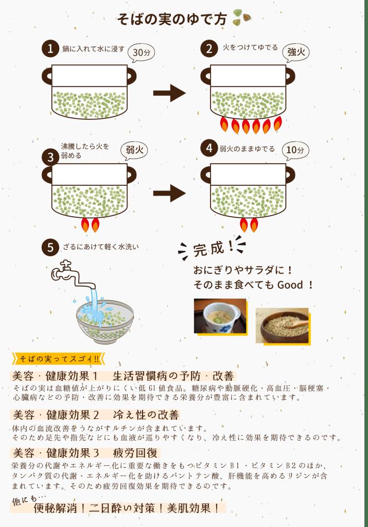身体美人を目指す方へ、簡単!蕎麦の実の食べ方