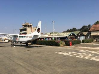 Terminalen og tårnet i Arusha