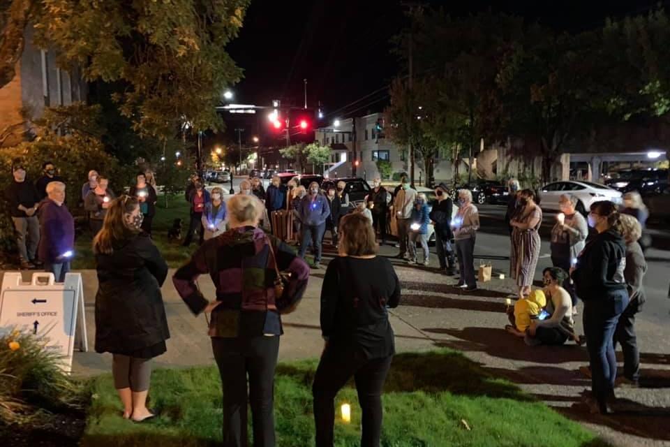 Ruth Bader Ginsburg Remembered at County Courthouse Vigil