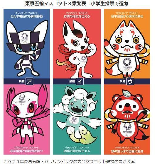 評審全是小學生!2020東京奧運吉祥物票選結果即將出爐 | 蕃新聞
