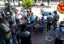 yamunanagar hulchul theka band kro protest in hanuman mandir rampura yamunanagar