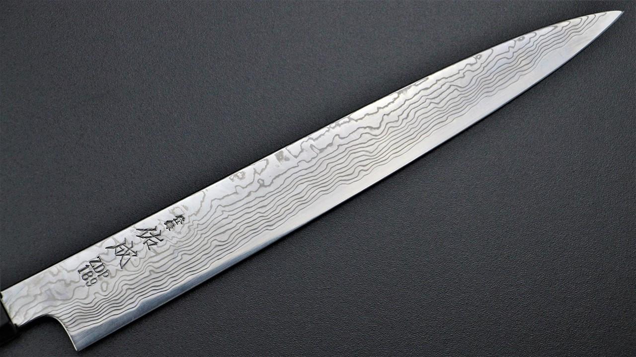 Yanagi Knife 柳葉刀鋪 . 佑成 ZDP-189 粉末鋼 積層 和筋引 (三白銅柄)