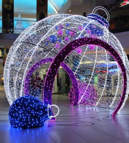 outdoor decorative big led light christmas balls - Led Lighted Christmas Decorations
