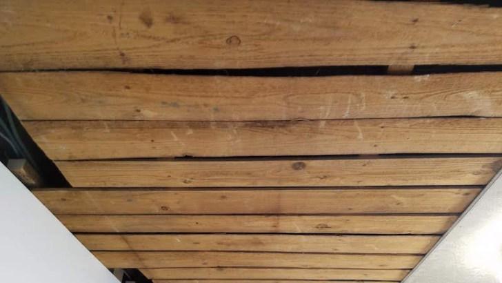 天井ボードの施工前の天井